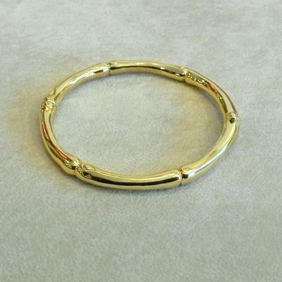 18KY Gold Bamboo Bangle Bracelet