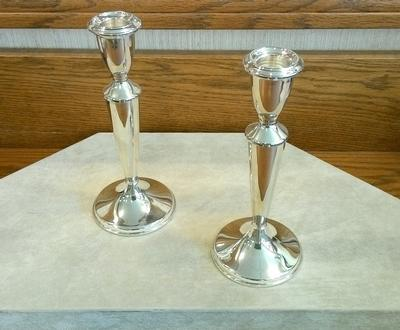 "Sterling Silver  7 1/2 "" Candlesticks (pair)"