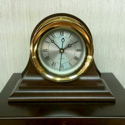 Brass Presidential Quartz Clock
