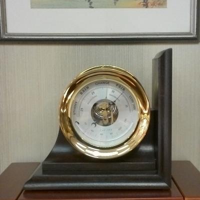 """4 1/2"""" Brass Barometer"""