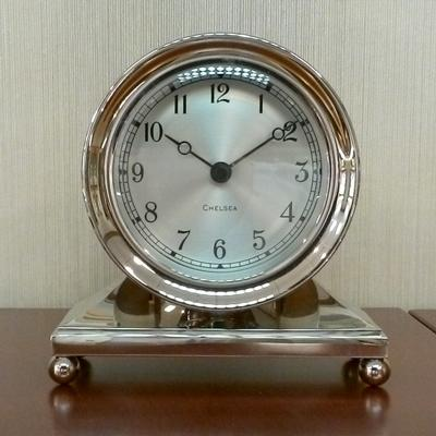 "Nickel Plate Constitution 3 1/2"" Desk Clock"