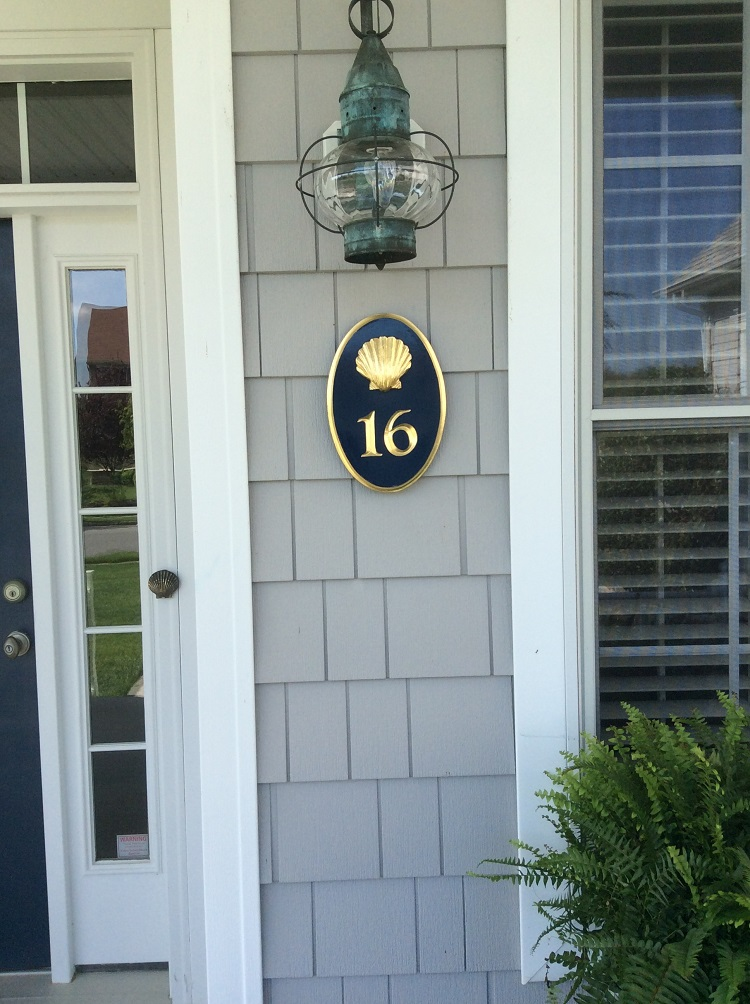 House number signs custom business signs the chatham for Cape cod house numbers