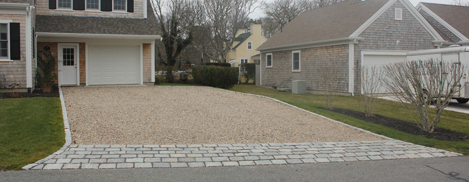Cobblestone Stones For Driveways : Cape cod driveways holmes land services east harwich ma