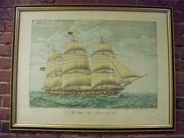 Hand Colored Engraving of Clipper Ship Anglesey item ma5404