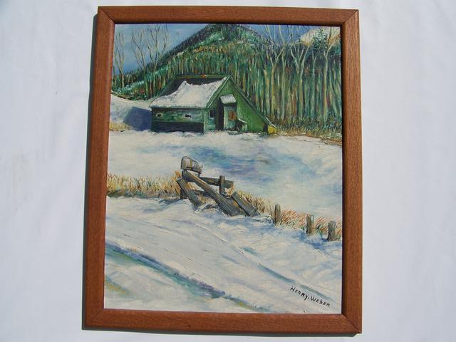 OB Winter Scene Signed Henry Weber item pa5409