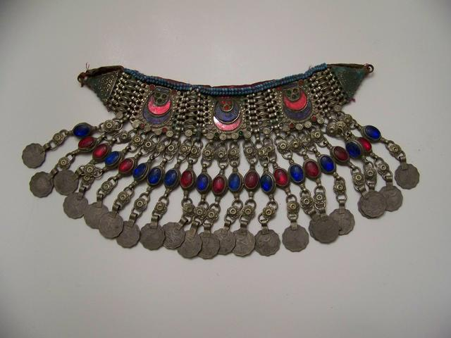 Unusual Turkish Necklace with Coins and Stones item aa5406
