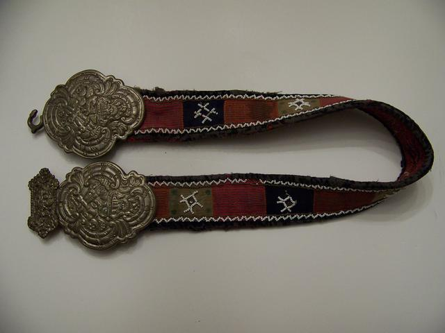 Baltic's Area Belt with Silver Buckle and Beading item at5406