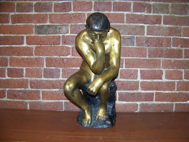 Large Bronze Contemporary Casting of Thinking Man item am5411