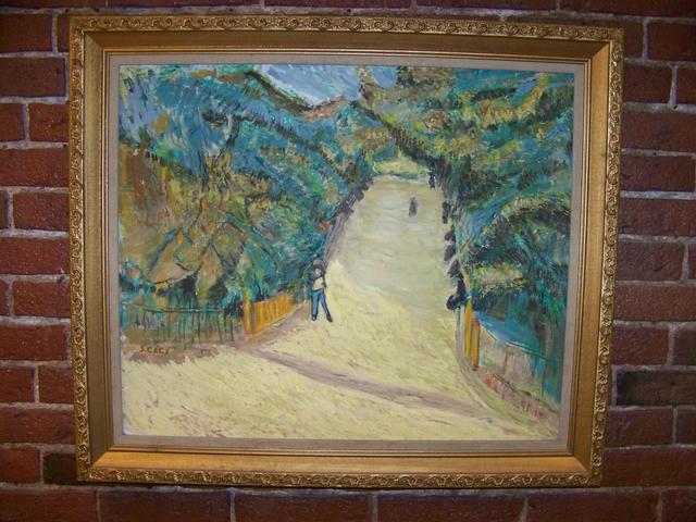 OC Signed S. CACI Village Scene Modern Impressionist item pa5415