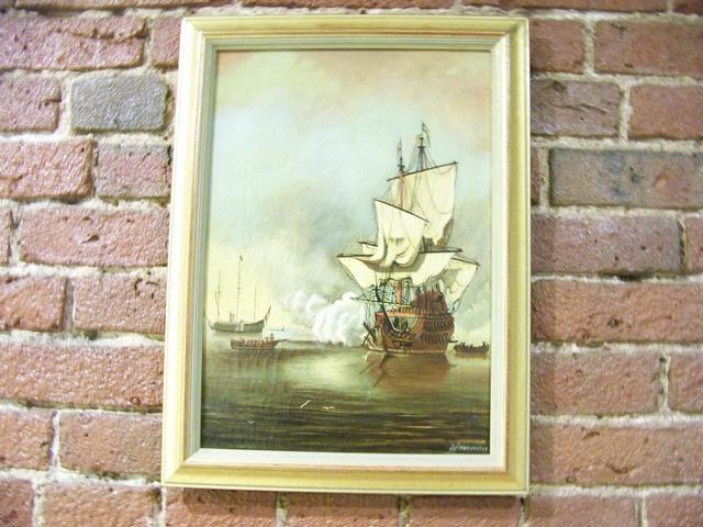 OC Dutch Primitive Harbor Scene Signed J Boumcester item ma5414