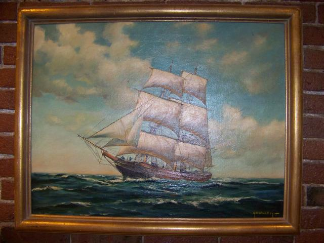 OC Marine/Clipper Ship Signed G H Wheatley item ma5406