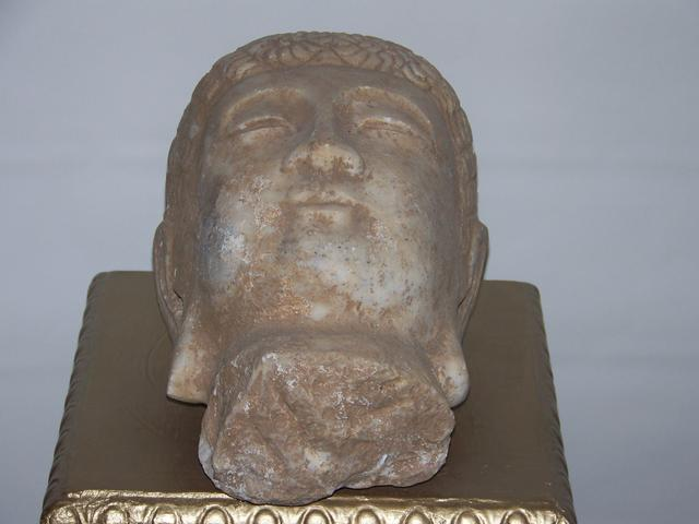 Contemporary Stone Buda Head item aa5414