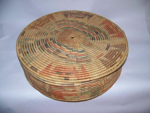 Native American Coiled  (Hopi Butterfly ?) Basket item ai5420