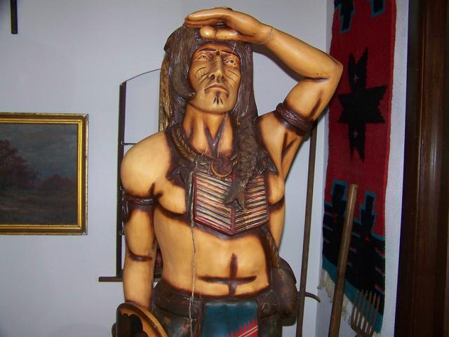 Carved Cigar Store Indian Circa 1950's 60's item am5420