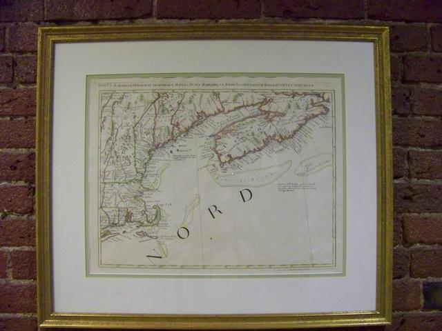 18th Century French Map of New England Coast item ma5416