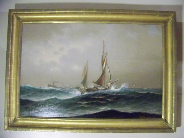 Large O/C Vessel In Stormy Sea by T C Valenkamph item ma1602