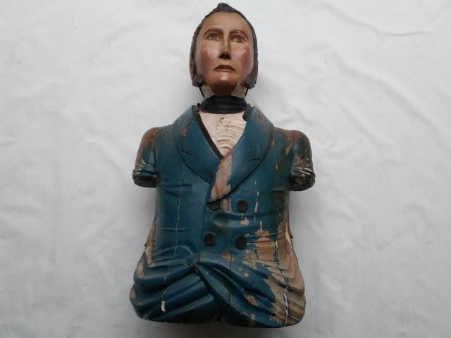 Important Ship's Figure Head of Admiral Perry by S W Burgess item na1701