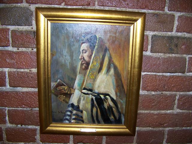 OB Portrait of Jewish Rabbi Sign Erno De Nagy item pa5406
