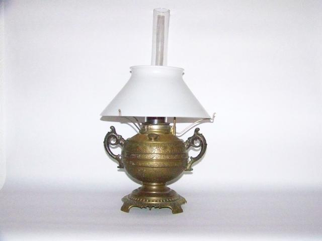 Vintage Brass Oil Lamp item am5401