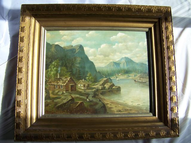 OB Landscape Signed J Bergh 1894 item pa5410