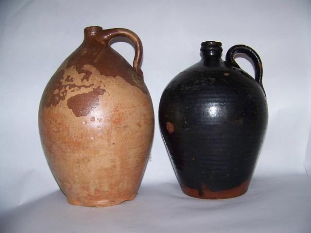 Pair of Vermont Redware Jugs item am5403