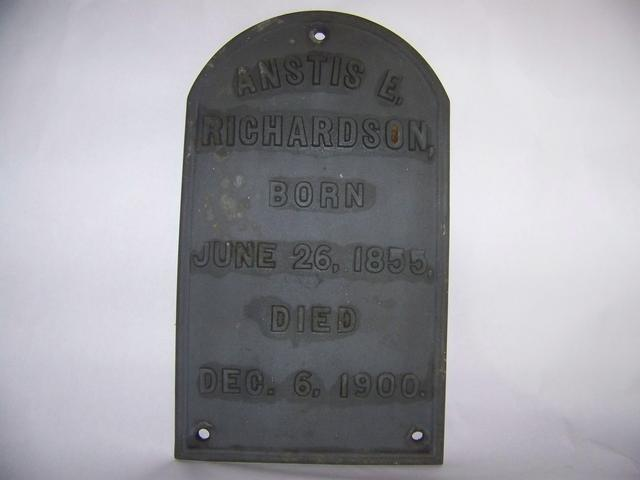 Antique Cast Iron Grave Plack item am5404