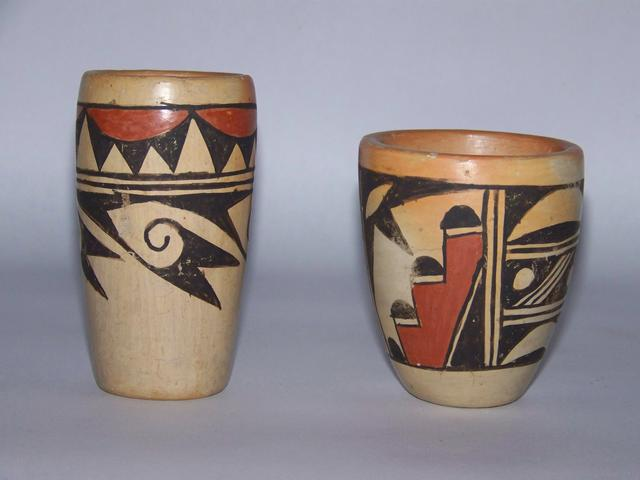 2 Hopi Pottery Cylinders Signed J. Maho  item ai5407