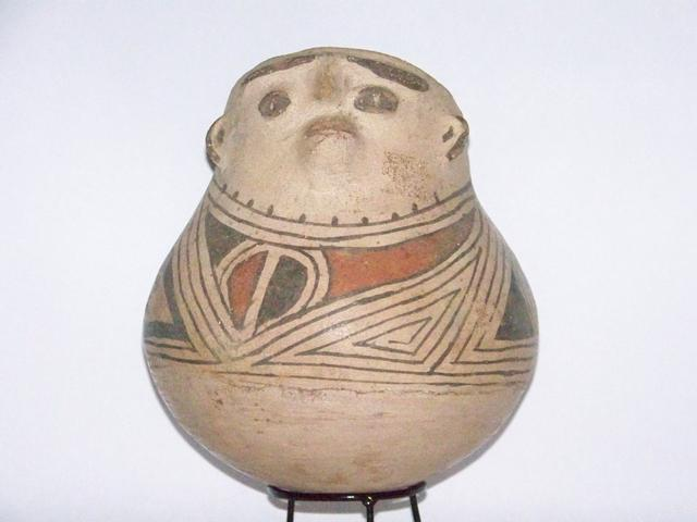 Myan Pottery Head Effigy Olla item at5404
