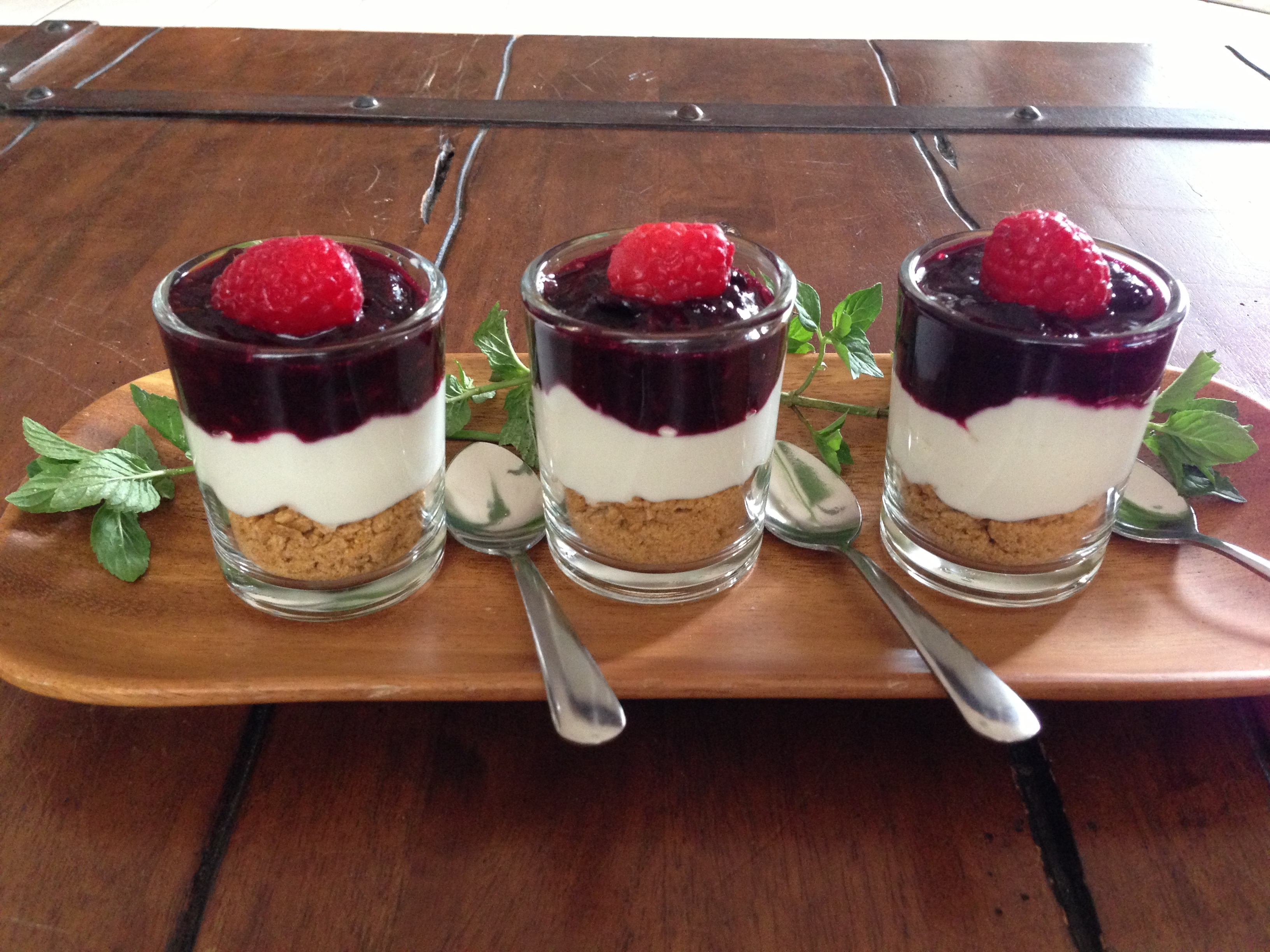 Berry Greek Dessert Shots