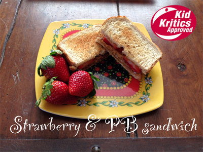 Strawberry & PB Sandwich