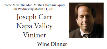 Wine Dinner March 11 2015
