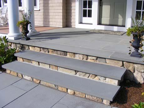 cape cod bluestone stone stair treads